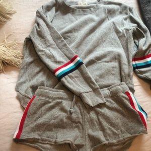 Matching Oceandrive sweatshirt and shorts set